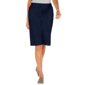 Karen Scott Sport Navy Cotton Skimmer Shorts